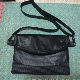 Ladies foldover handbag