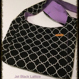 Jet Black Lattice Weather Resistant Ministry Bag