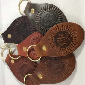 """Best Life Ever"" Top Grain Leather Keychains, Lot of 6"