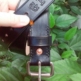 Artisan Leather Belt//Full Grain Leather// Made to Order//Personalized//Black