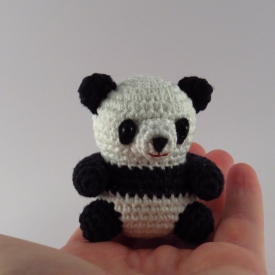 Cute amigurumi Panda. Small Giant crochet panda.