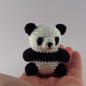 Cute amigurumi Panda. Small Giant crochet panda.