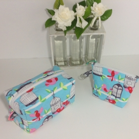 Aqua 2 piece travel set
