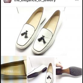 White Ralph Lauren flat shoes