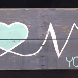 Love You More 36 X 11.5 Wedding Anniversary Sign