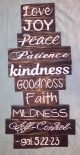 Fruitage Of The Spirit List 16″ X 34″ Wall Decor Sign