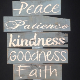 Fruitage Of The Spirit One Of A Kind Wall Decor 16″ X 31.5″