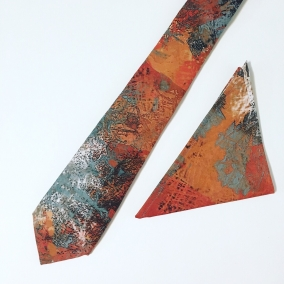 Rustic Neck Tie and Pocket Square