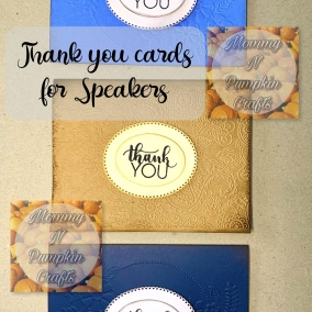 Thank You Cards for Speakers