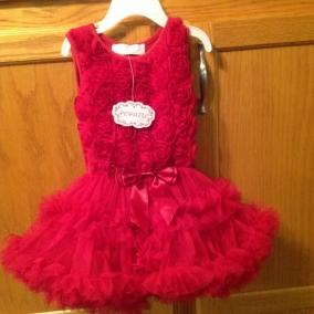 Popatu Ruffles Ruffles Ruffles Pink Dress Sz 18 mo with handcrafted accessories $75+ $4.95 shipping