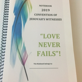JW Convention 2019 Notebook
