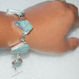 Handmade Ruby Fuchsite Bracelet 7 1/2″