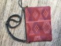 Ministry textile clutch/cross body black leather