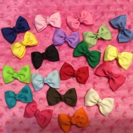 12 Handcrafted Infant Hairbows