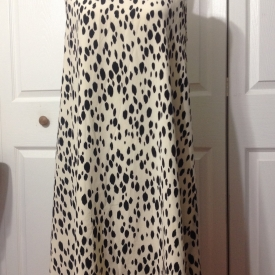 Vintage silk cheetah print shift dress