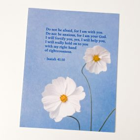 2 Printable postcards postcards featuring bible scripture from Isaiah 41:10