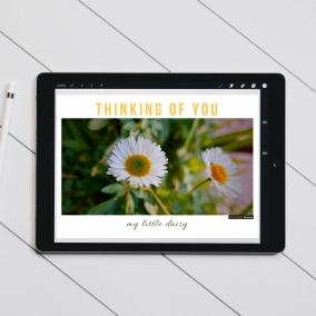 Thinking Of You My Little Daisy Digital Card