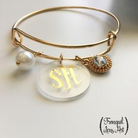 Monogrammed Charm Bracelet