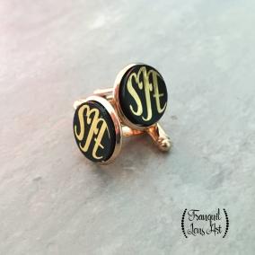 Monogrammed Gold Tone cufflinks