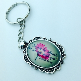 """Do not be afraid…"" Fancy Keychain"
