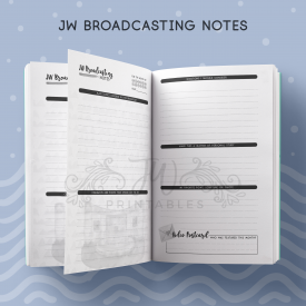 JW Broadcasting Notebook - JWPrintables