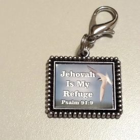 'Jehovah Is My Refuge' keychain/accessory
