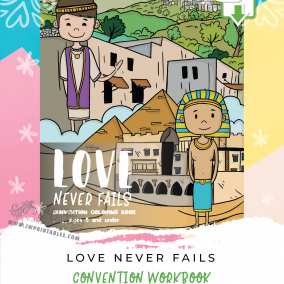 Love Never Fails • Kids Convention Coloring Book (5 yrs & under) • INSTANT DOWNLOAD