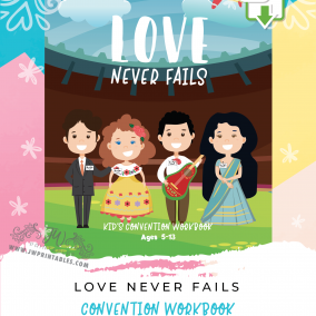 Love Never Fails • Kids Convention Notebook (5-13 yrs) • INSTANT DOWNLOAD
