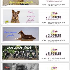 Love Never Fails BOOKMARKS for Melbourne International 2019 – Aussie Animals