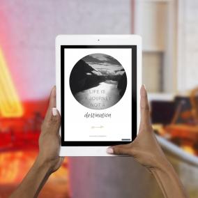 Life is a Journey not a Destination – Digital Card
