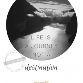 Life is a Journey not a Destination – Digital Postcard