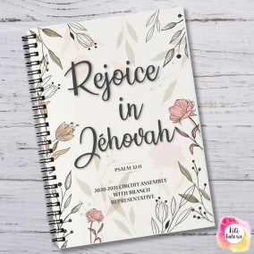Circuit Assembly Notebook 2020-2021 – Rejoice in Jehovah – Digital print