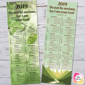 Bookmarks 2019 Bible Reading Schedule + Yeartext - JW - Printable file