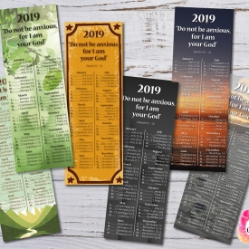 Bookmarks 2019 Bible Reading Schedule + Yeartext – Printable file