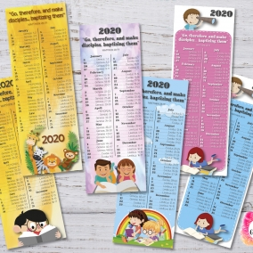 6 Bookmarks 2020 Bible Reading Schedule + Yeartext Children – Printable file