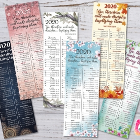 6 Bookmarks 2020 Bible Reading Schedule + Yeartext – Printable file