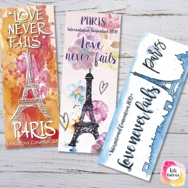3 Bookmarks Paris international Convention 2019 – Printable file