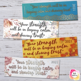 4 Bookmarks with 2021 Yeartext – Digital Print