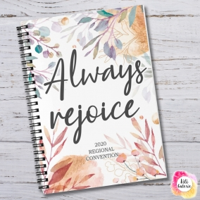 "Convention Notebook ""Always rejoice"" 2020 – Digital print"