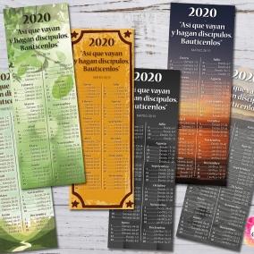 6 Marcadores 2020 Programa de lectura de la Biblia + Texto del año – Archivo imprimible
