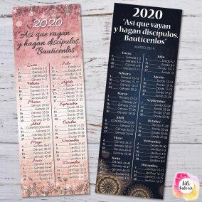 LiliGalerie-Marcador- Lectura Biblia 2020