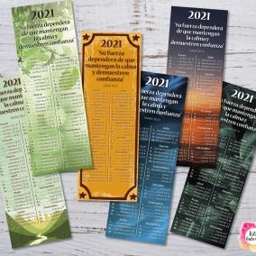 6 Marcadores 2021 Programa de lectura de la Biblia + Texto del año – Archivo imprimible
