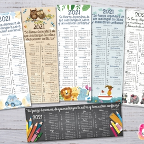 6 Marcadores 2021 Programa de lectura de la Biblia + Texto del año Niño – Archivo imprimible