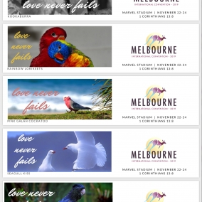 Love Never Fails Bookmarks for Melbourne International 2019 – Australian Birds
