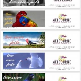 Love Never Fails BOOKMARKS for Melbourne International 2019 – Australian Birds