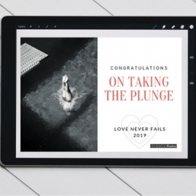 Love Never Fails 2019 Congratulations on Taking The Plunge Digital Postcard