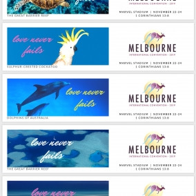 Love Never Fails Bookmarks for Melbourne International 2019 – Great Barrier Reef