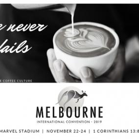 Love Never Fails POSTCARDS for Melbourne International 2019 – Coffee Culture – Black & White