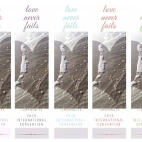 Love Never Fails BOOKMARKS for ALL International Conventions 2019 – Beach Theme