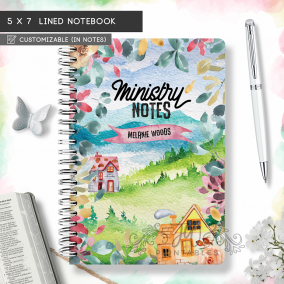 Ministry Notes Notebook   Floral/Houses   5 x 7 [MN01]